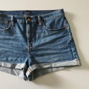 JCREW High Rise Jean Shorts Denim Blue size 31